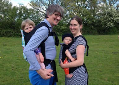 (Not such a baby anymore) baby wearing