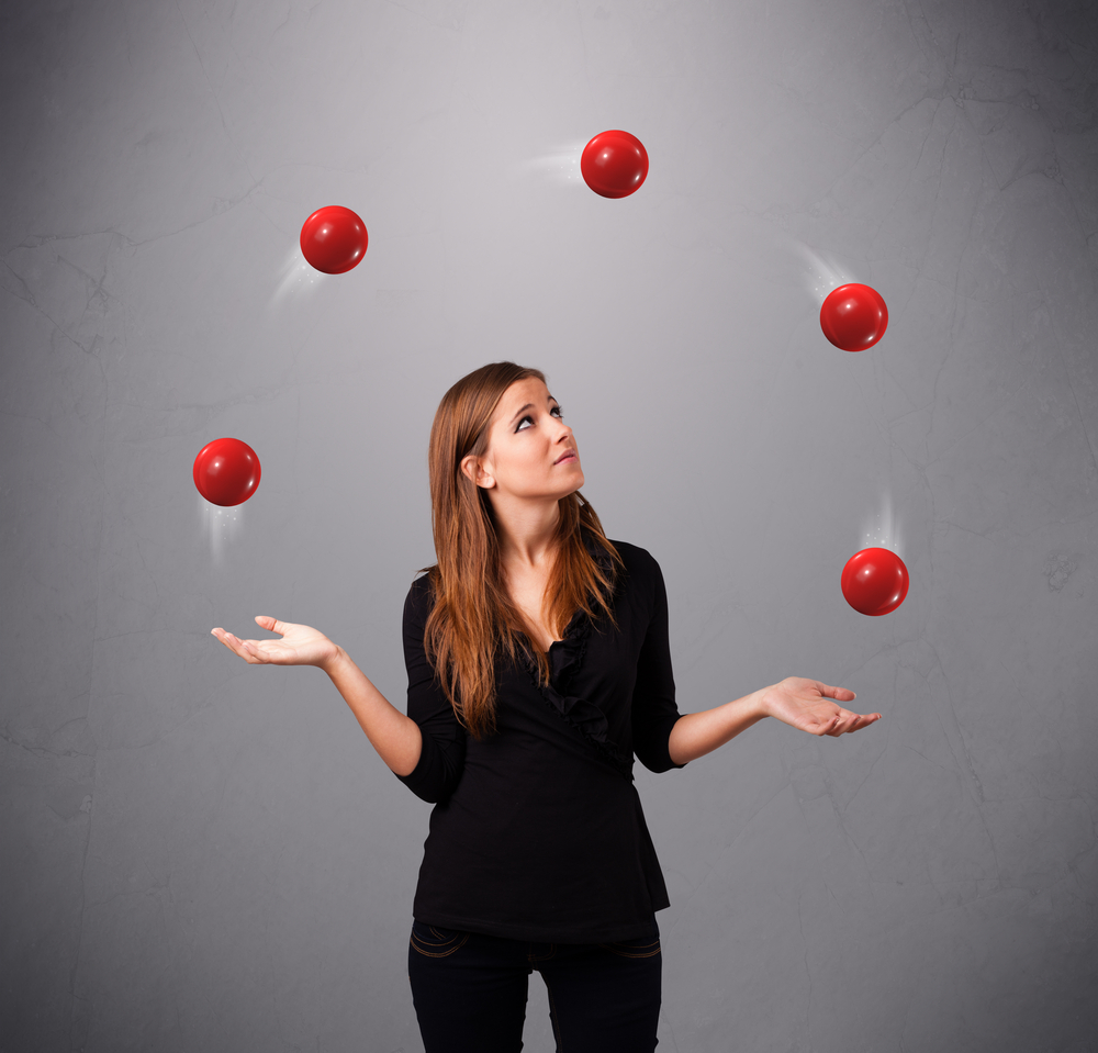 Learning to Juggle, and not always keeping all the balls in the air!