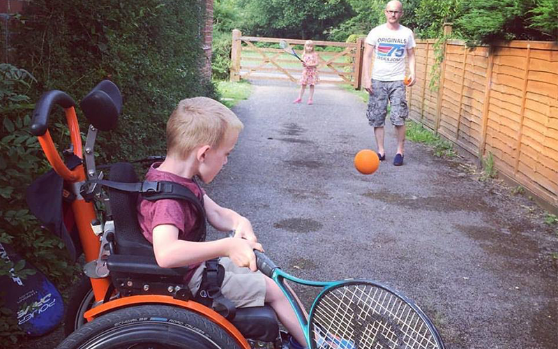 The magical powers of an orange wheelchair