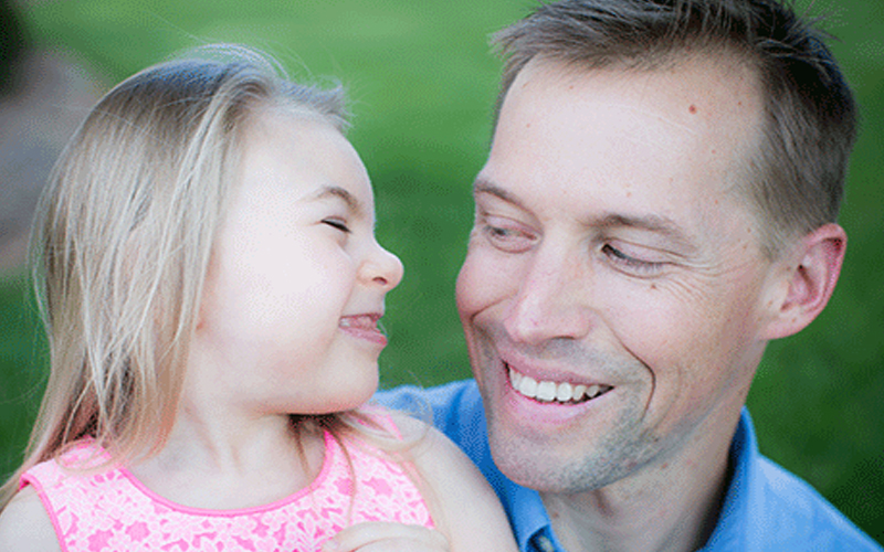Daddy's The One That Makes Her Laugh - Raising Children with Disabilities