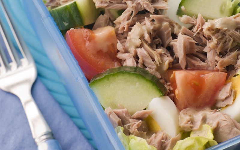Recipe for weight gain: Tuna Salad with Walnuts and Raisins