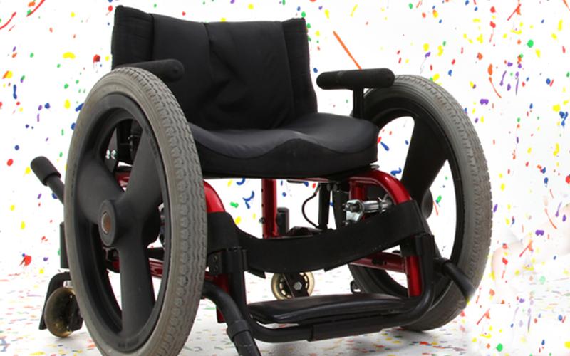 The curiosity of a new wheelchair