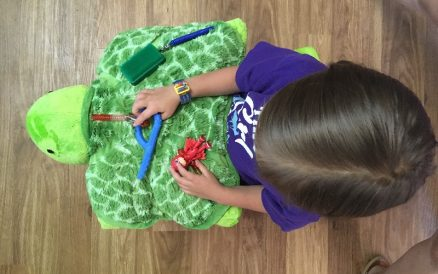 DIY Weighted Sensory Fidget Lap Pad